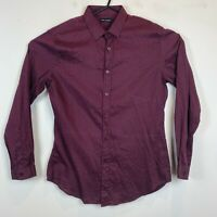 Jack London Mens Maroon Spotted Long Sleeve Business Shirt Size XL
