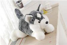 big lovely plush Husky toy high quality gray lying dog doll about 60cm