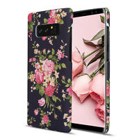 Soft Rubber Flower Protective Case for Women Girls, for Samsung Galaxy Note 9 8