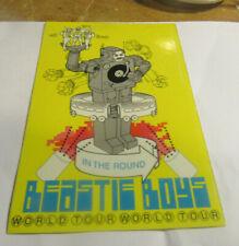 Beastie Boys Sticker Collectible Rare Vintage 1990'S Metal Window Decal