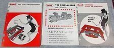 Three Vintage 1970's Page Truck Suspensions Dura Kidde Brochure Pages FREE S/H