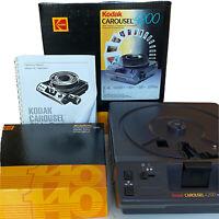 Kodak 4200 Carousel Slide Projector Sharp Images with Slide Tray & Manual