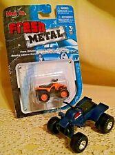 QUAD RUNNER LOT 2 MAISTO FRESH METAL ATV 4 WHEELER BLUE PLASTIC LOOSE CHINA.