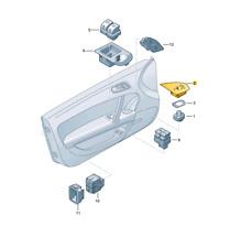 Nuovo Originale Audi Tt Porta Vista Laterale Interruttore Specchio Guarnizione