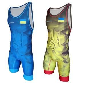 Tuta da wrestling BERKNER  Ukraine A Wrestling Suit Trikot Singlet Ringertrikot