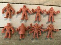 Vintage M.U.S.C.L.E. Muscle Men Action Figures 1980s Lot of 8