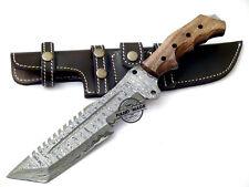 Hermosa hecha a Mano Personalizada Damasco cuchillo machete caza Rastreador de acero 1547