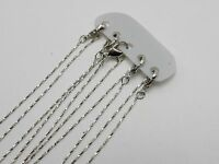 """5 Silver Tone Link Snake Chain Necklace 0.8mm 16"""" Lobster Clasp fit DIY Pendants"""