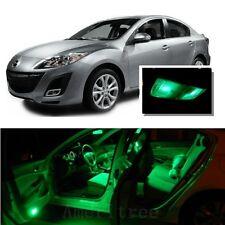 For Mazda 3 2010-2013 Green LED Interior Kit + Green License Light LED