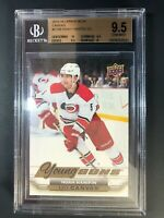 2015-16 Upper Deck Noah Hanifin Young Guns Canvas Rookie BGS 9.5