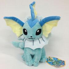 "TOMY Pokemon Vaporeon Plush Soft Toy Stuffed Animal Doll Teddy 9"""