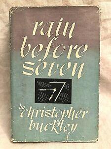 Christopher Buckley - Rain Before Seven - 1st 1947 Hodder, Jacket - Detective