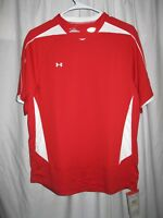 NEW $65 Under Armour Womens Futbol Soccer Red White Heat Geat Shirt Top Medium