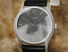 Rolex Cellini 1971 Solid 18k White Gold Serial 2659338 32mm Men Dress Watch GG14
