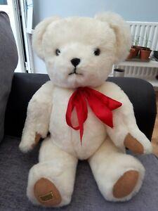"Large White 24"" MERRYTHOUGHT Teddybear"
