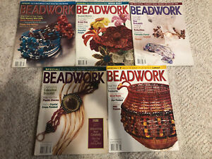 Lot of 5 Beadwork Magazines 2003 Issues