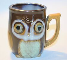 Gibson OWL COFFEE TEA MUG  CUP Hand Painted Adorable 3 deminsional