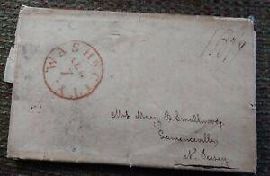 1828 Washington Letter / Envelope All In One