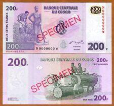 SPECIMEN, Congo D.R. 200 Francs, 2007 P-99s, UNC
