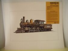 ARTIST RENDERED COLOR DRAWING OF THE ORIGINAL GREAT NORTHERN TRAIN #351, SIGNED