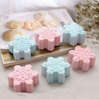 6Cells Chocolate Mold Soap Silicone Ice Tray Cake Christmas Mould Snowflake AU