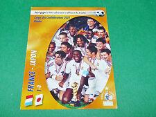 FRANCE JAPON CONFEDERATIONS 2001 EQUIPE FRANCE BLEUS PANINI FOOTBALL CARD 2002