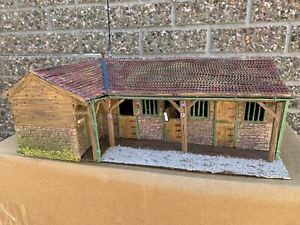 Stables block & Office, Scratch Built One off Model 1/43 Scale