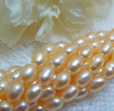 "PEACH Freshwater Pearls Cultured 3-4mm 16"" strand Beautiful"
