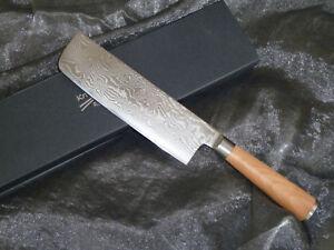 Nakiri Messer/Beil 18,5 cm Damast- Damaszener Stahl