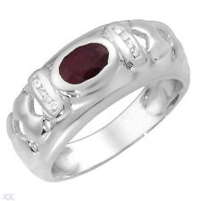 Lovely Genuine Ruby and Topaz Crafted in 925 Sterling silver
