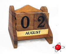 Calendar Wood Block 3D - NEW Home Office Kitchen Court Church Pew