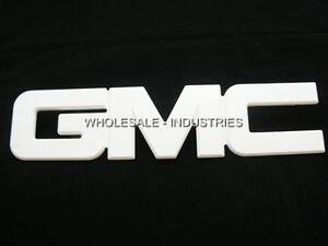 GMC WHITE BILLET FRONT GRILLE EMBLEM YUKON ENVOY SIERRA ACADIA TERRAIN 99-2012