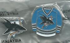 NHL San Jose Sharks Vintage 2 Pin Lot 1990's OOP Sealed in Original Bags! HOT