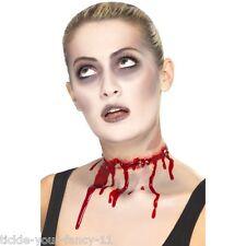 Halloween Smiffys cicatrice FILO SPINATO SLASH collo FX LATTICE MAKE UP FANCY DRESS