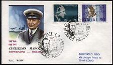 1974 - Guglielmo Marconi  - n.1245-1246  - Busta FDC