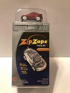 NEW Zip Zaps Micro RC Red Ford Mustang Cobra Radio Shack 1:64 Starter Kit