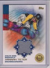 RARE 2014 TOPPS OLYMPIC HANNAH TETER GOLD RELIC CARD ~ /25 ~ SNOWBOARDING GREAT