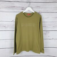 Vintage Puma Green Long Sleeve Tshirt Top Size Medium