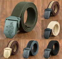 Men's Outdoor Sport Military Army Tactical Nylon Waistband Canvas Web Belt