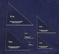 Laser Cut Quilt Templates- 6 Piece Triangle No seam - Clear Acrylic 1/8""