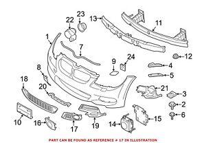 For BMW Genuine Fog Light Trim Front Right 51118038936