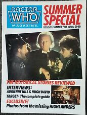 Dr. Who Summer Special 1986 Bbc Tv Marvel Magazine Science Fiction Out Of Print!