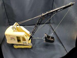 Vintage 60s Tonka Dragline Crane Shovel 514 Yellow EXC w/Tracks Clean Steel