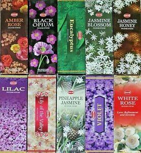 20 - 200 Sticks Incense CHOOSE SCENT or MIXED HEM HEX Bulk Floral Flower Insence