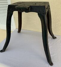 """Antique Machine Age table Base Industrial Steampunk Salvage Heavy Cast Iron 19"""""""