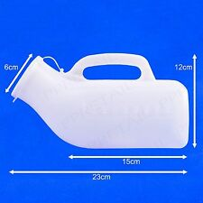 MALE Urinal Bottle & Lid LARGE 1000ML Portable Car/Camping/Travel/Bed Urine Pot