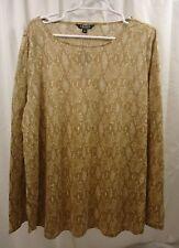 Women's Lauren Ralph Lauren  Linen L/S Python   Shirt 3X