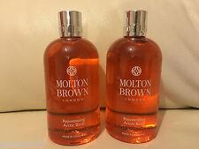 Molton Brown 2 x 300ml Rejuvenating Arctic Birch Bath & Shower Gel NEW *LOOK*