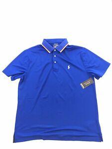 Polo Ralph Lauren Performance Shirt Mens Size XL Blue Orange