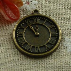 Free Ship 44pcs Antique bronze clock charms 28X24mm L-1012
